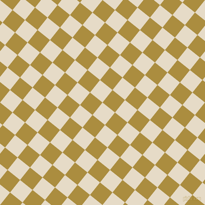 51/141 degree angle diagonal checkered chequered squares checker pattern checkers background, 32 pixel square size, , Half Spanish White and Luxor Gold checkers chequered checkered squares seamless tileable