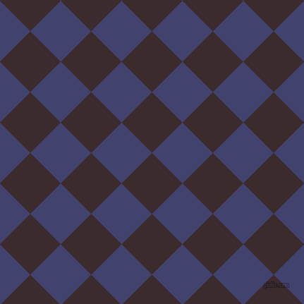 45/135 degree angle diagonal checkered chequered squares checker pattern checkers background, 61 pixel square size, , Havana and Corn Flower Blue checkers chequered checkered squares seamless tileable
