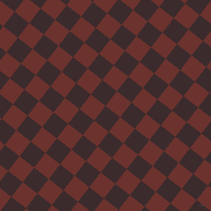 52/142 degree angle diagonal checkered chequered squares checker pattern checkers background, 63 pixel squares size, , Havana and Kenyan Copper checkers chequered checkered squares seamless tileable