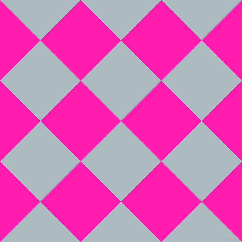 45/135 degree angle diagonal checkered chequered squares checker pattern checkers background, 197 pixel squares size, , Heather and Spicy Pink checkers chequered checkered squares seamless tileable