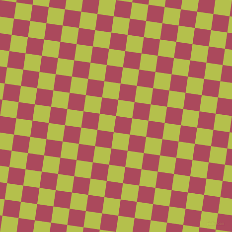 82/172 degree angle diagonal checkered chequered squares checker pattern checkers background, 33 pixel square size, , Hippie Pink and Celery checkers chequered checkered squares seamless tileable