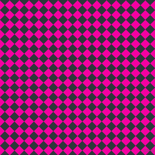 45/135 degree angle diagonal checkered chequered squares checker pattern checkers background, 24 pixel square size, , Hollywood Cerise and Outer Space checkers chequered checkered squares seamless tileable