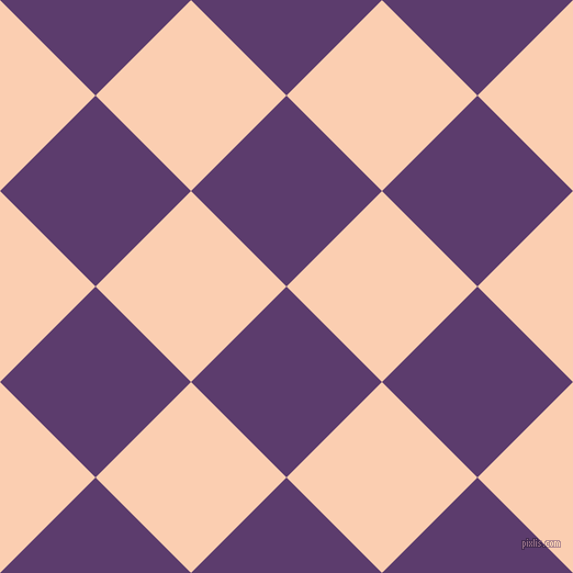 45/135 degree angle diagonal checkered chequered squares checker pattern checkers background, 123 pixel squares size, , Honey Flower and Apricot checkers chequered checkered squares seamless tileable