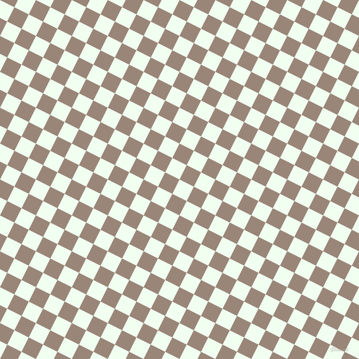 63/153 degree angle diagonal checkered chequered squares checker pattern checkers background, 33 pixel square size, , Honeydew and Almond Frost checkers chequered checkered squares seamless tileable