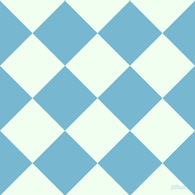 45/135 degree angle diagonal checkered chequered squares checker pattern checkers background, 95 pixel squares size, , Honeydew and Seagull checkers chequered checkered squares seamless tileable