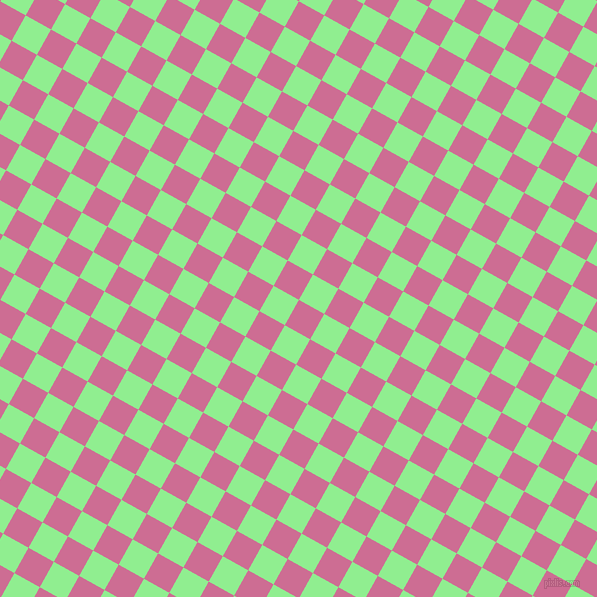 61/151 degree angle diagonal checkered chequered squares checker pattern checkers background, 29 pixel squares size, , Hopbush and Light Green checkers chequered checkered squares seamless tileable