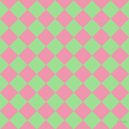 45/135 degree angle diagonal checkered chequered squares checker pattern checkers background, 45 pixel squares size, , Illusion and Granny Smith Apple checkers chequered checkered squares seamless tileable