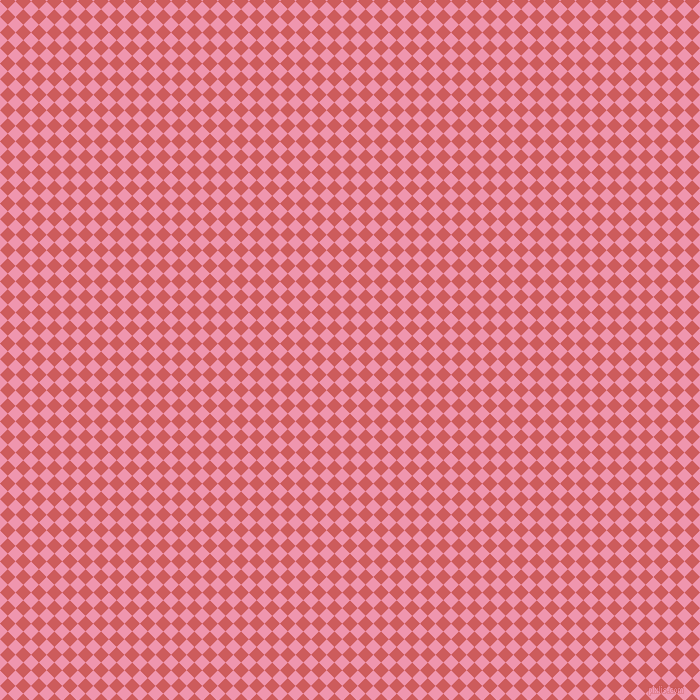 45/135 degree angle diagonal checkered chequered squares checker pattern checkers background, 11 pixel square size, , Indian Red and Illusion checkers chequered checkered squares seamless tileable