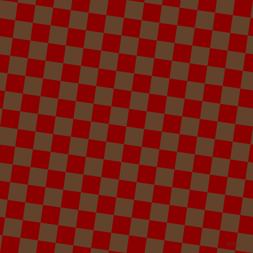 82/172 degree angle diagonal checkered chequered squares checker pattern checkers background, 35 pixel squares size, , Irish Coffee and Dark Red checkers chequered checkered squares seamless tileable