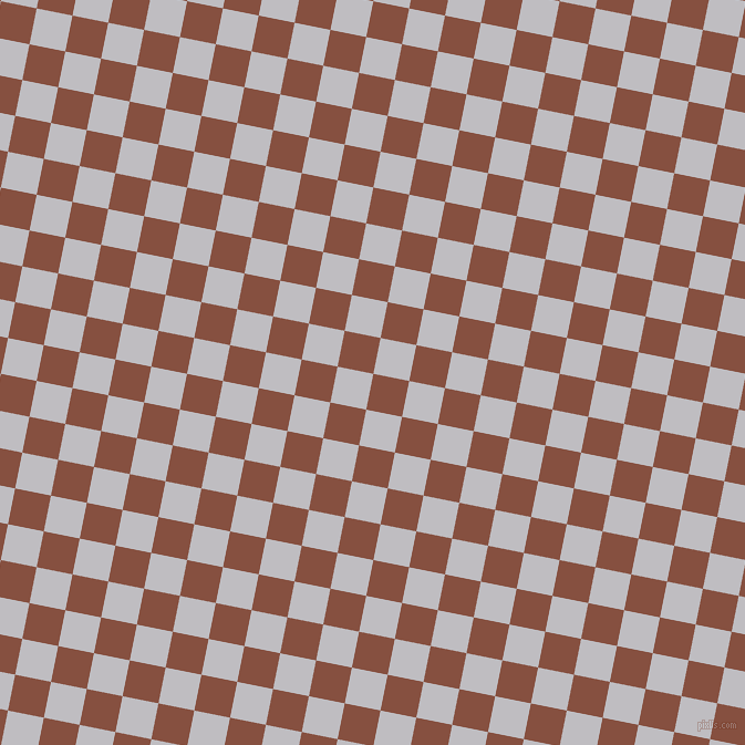 79/169 degree angle diagonal checkered chequered squares checker pattern checkers background, 33 pixel square size, Ironstone and French Grey checkers chequered checkered squares seamless tileable