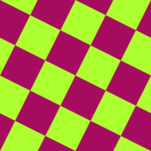 63/153 degree angle diagonal checkered chequered squares checker pattern checkers background, 131 pixel square size, , Jazzberry Jam and Green Yellow checkers chequered checkered squares seamless tileable