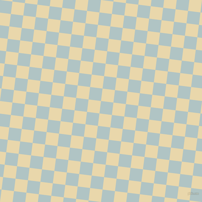 83/173 degree angle diagonal checkered chequered squares checker pattern checkers background, 40 pixel squares size, , Jungle Mist and Beeswax checkers chequered checkered squares seamless tileable