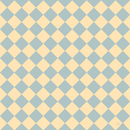 45/135 degree angle diagonal checkered chequered squares checker pattern checkers background, 39 pixel squares size, , Jungle Mist and Moccasin checkers chequered checkered squares seamless tileable