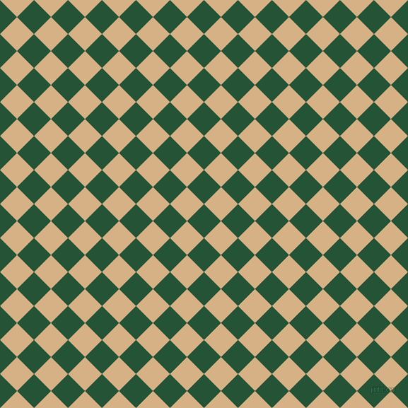 45/135 degree angle diagonal checkered chequered squares checker pattern checkers background, 34 pixel square size, , Kaitoke Green and Calico checkers chequered checkered squares seamless tileable