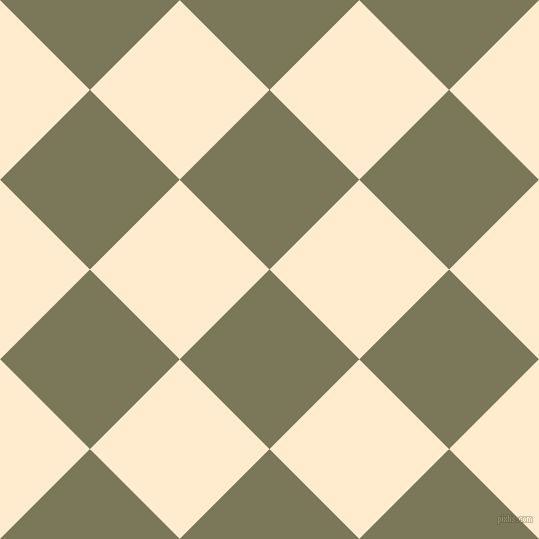 45/135 degree angle diagonal checkered chequered squares checker pattern checkers background, 127 pixel squares size, , Kokoda and Blanched Almond checkers chequered checkered squares seamless tileable