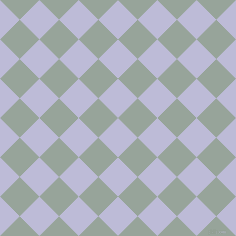 45/135 degree angle diagonal checkered chequered squares checker pattern checkers background, 55 pixel square size, , Lavender Grey and Edward checkers chequered checkered squares seamless tileable