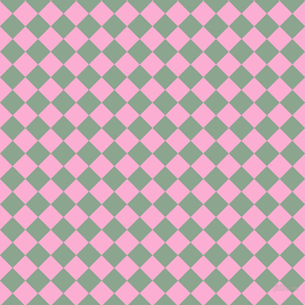 45/135 degree angle diagonal checkered chequered squares checker pattern checkers background, 26 pixel square size, , Lavender Pink and Envy checkers chequered checkered squares seamless tileable