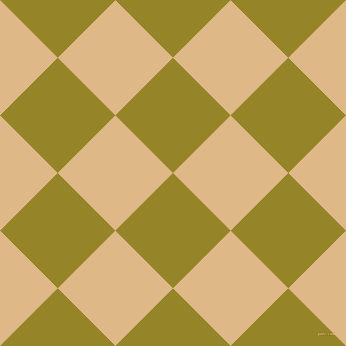 45/135 degree angle diagonal checkered chequered squares checker pattern checkers background, 167 pixel square size, , Lemon Ginger and Burly Wood checkers chequered checkered squares seamless tileable