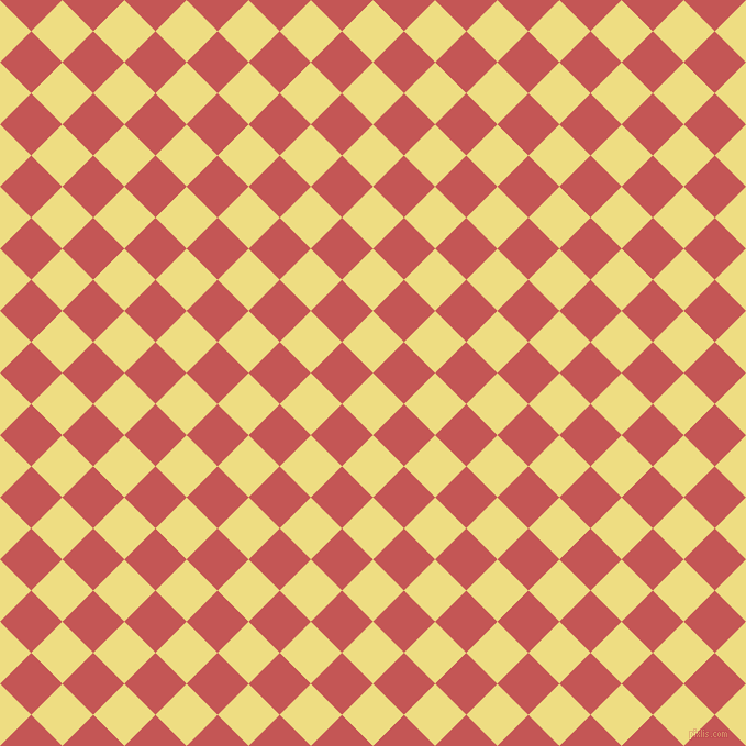 45/135 degree angle diagonal checkered chequered squares checker pattern checkers background, 40 pixel squares size, , Light Goldenrod and Fuzzy Wuzzy Brown checkers chequered checkered squares seamless tileable