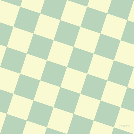 72/162 degree angle diagonal checkered chequered squares checker pattern checkers background, 70 pixel square size, , Light Goldenrod Yellow and Surf checkers chequered checkered squares seamless tileable