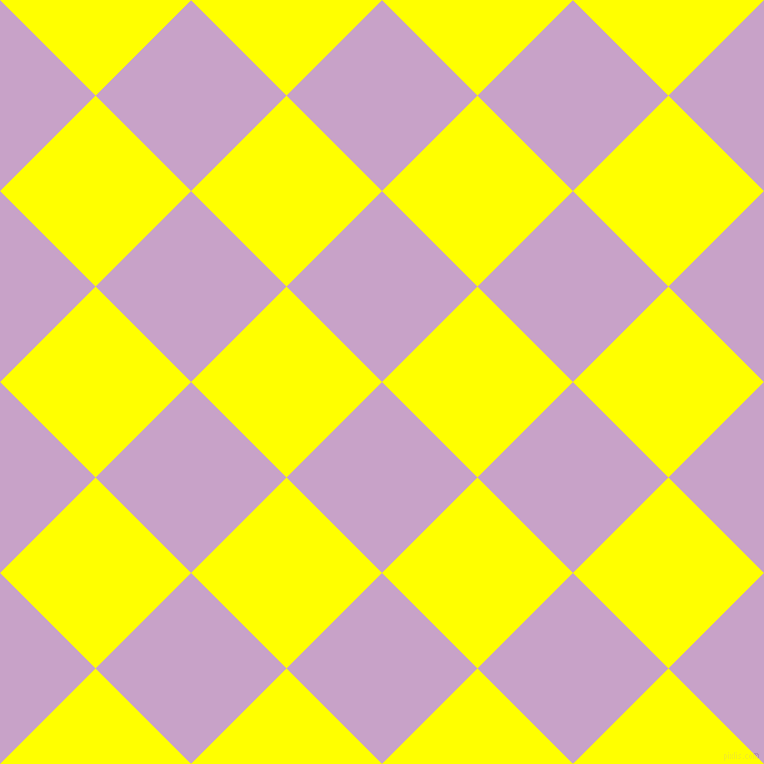 45/135 degree angle diagonal checkered chequered squares checker pattern checkers background, 135 pixel square size, , Lilac and Yellow checkers chequered checkered squares seamless tileable