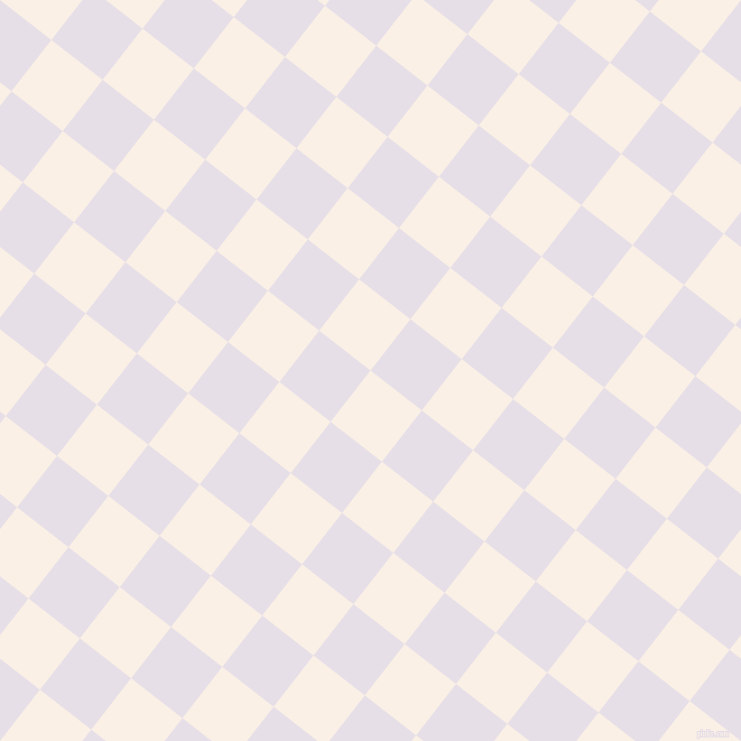 52/142 degree angle diagonal checkered chequered squares checker pattern checkers background, 72 pixel square size, , Linen and Selago checkers chequered checkered squares seamless tileable