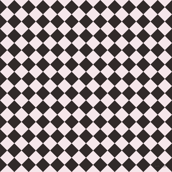 45/135 degree angle diagonal checkered chequered squares checker pattern checkers background, 34 pixel squares size, Livid Brown and Amour checkers chequered checkered squares seamless tileable