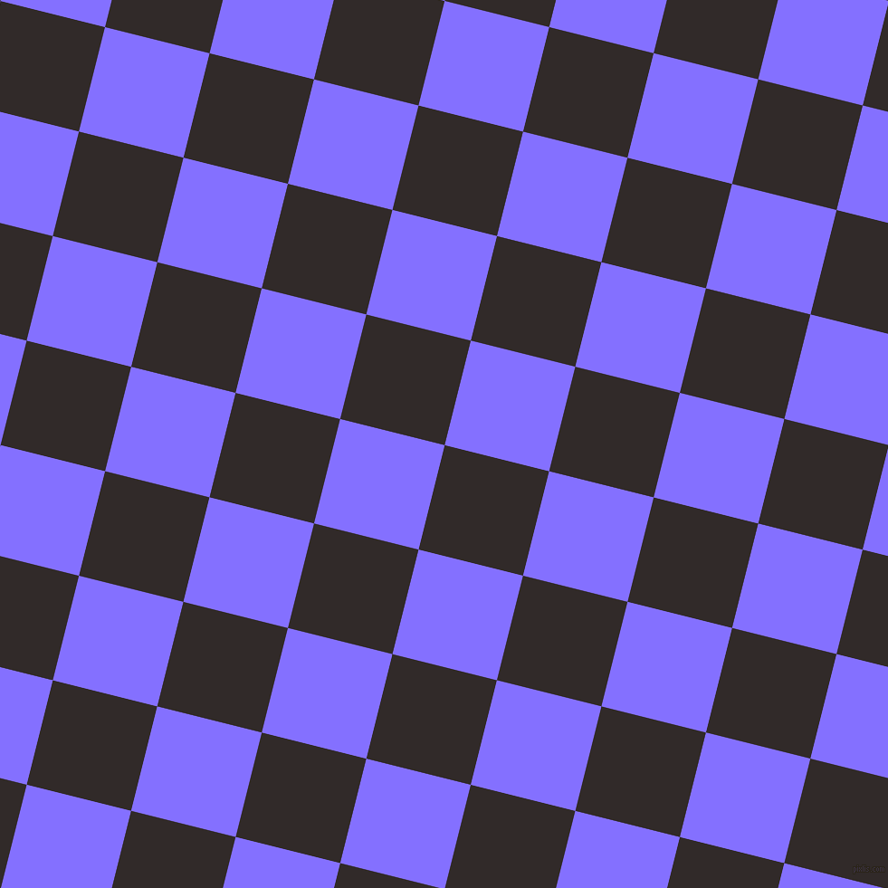 76/166 degree angle diagonal checkered chequered squares checker pattern checkers background, 119 pixel squares size, Livid Brown and Light Slate Blue checkers chequered checkered squares seamless tileable