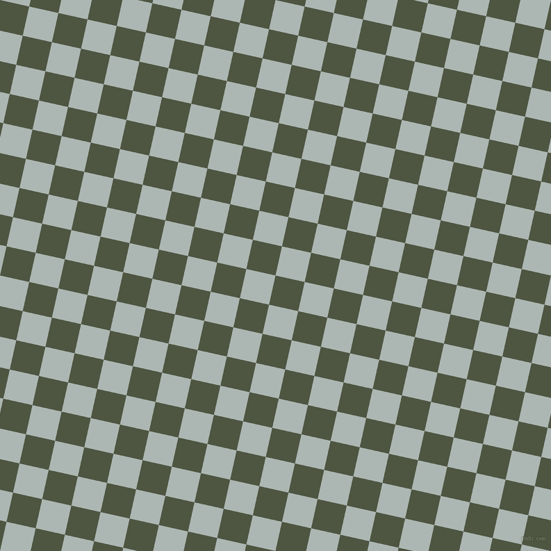 77/167 degree angle diagonal checkered chequered squares checker pattern checkers background, 43 pixel square size, , Lunar Green and Periglacial Blue checkers chequered checkered squares seamless tileable