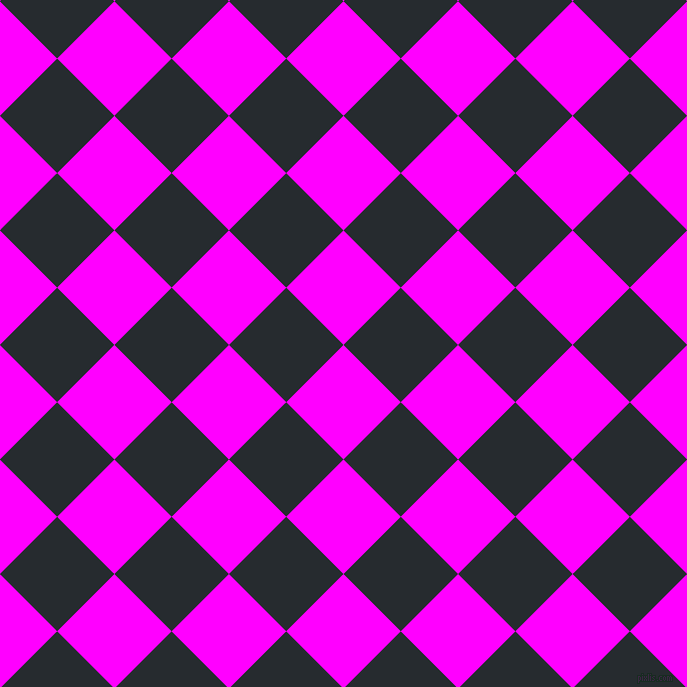 45/135 degree angle diagonal checkered chequered squares checker pattern checkers background, 81 pixel squares size, , Magenta and Blue Charcoal checkers chequered checkered squares seamless tileable
