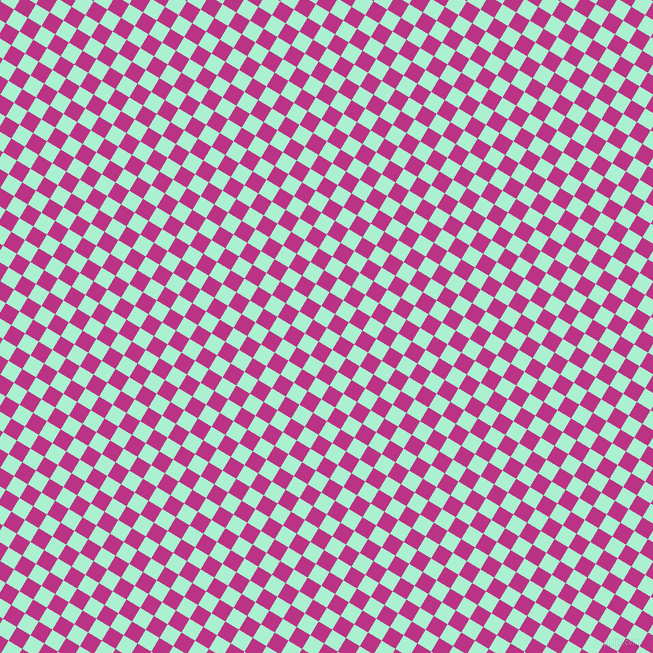59/149 degree angle diagonal checkered chequered squares checker pattern checkers background, 16 pixel squares size, , Magic Mint and Red Violet checkers chequered checkered squares seamless tileable