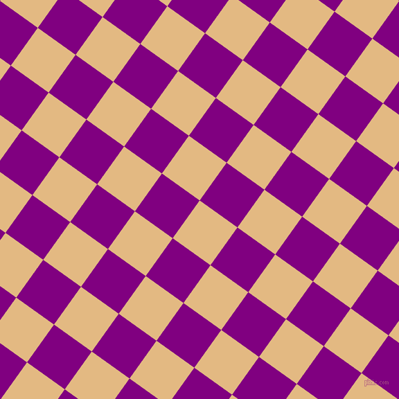 54/144 degree angle diagonal checkered chequered squares checker pattern checkers background, 67 pixel squares size, , Maize and Purple checkers chequered checkered squares seamless tileable