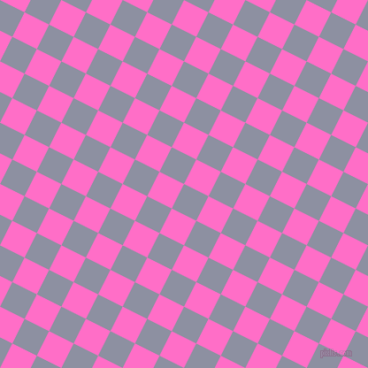 63/153 degree angle diagonal checkered chequered squares checker pattern checkers background, 31 pixel squares size, , Manatee and Neon Pink checkers chequered checkered squares seamless tileable