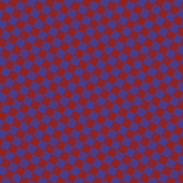 63/153 degree angle diagonal checkered chequered squares checker pattern checkers background, 31 pixel squares size, Mandarian Orange and Dark Slate Blue checkers chequered checkered squares seamless tileable