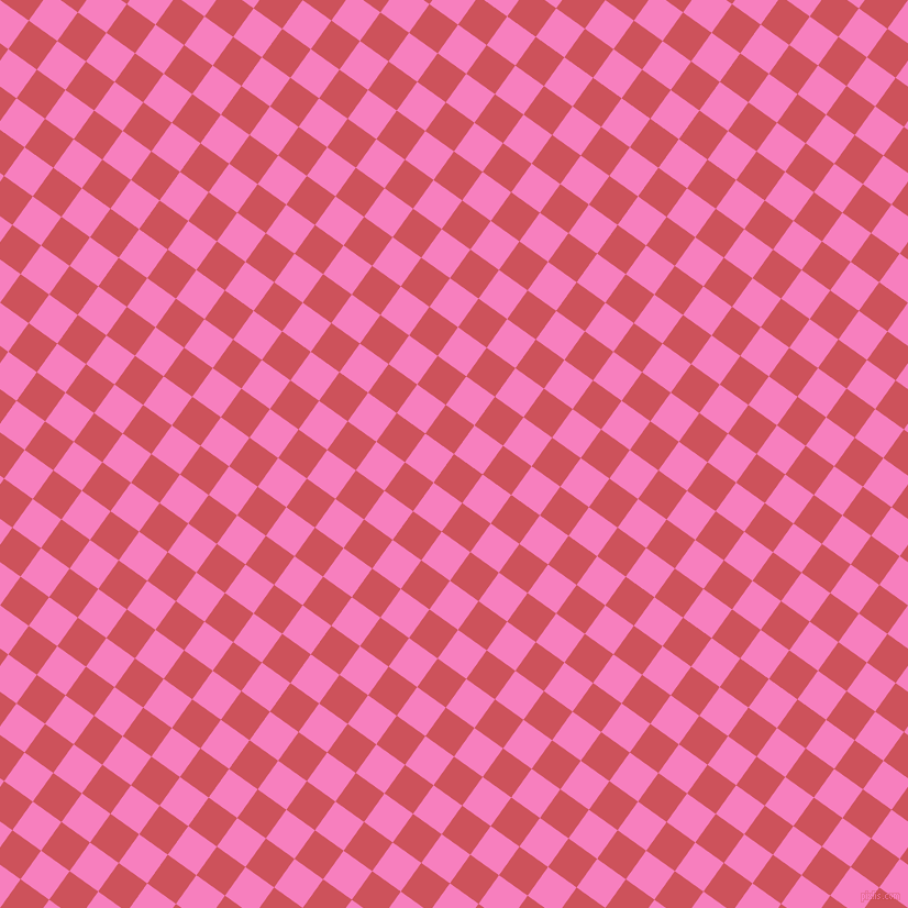 54/144 degree angle diagonal checkered chequered squares checker pattern checkers background, 32 pixel square size, , Mandy and Persian Pink checkers chequered checkered squares seamless tileable