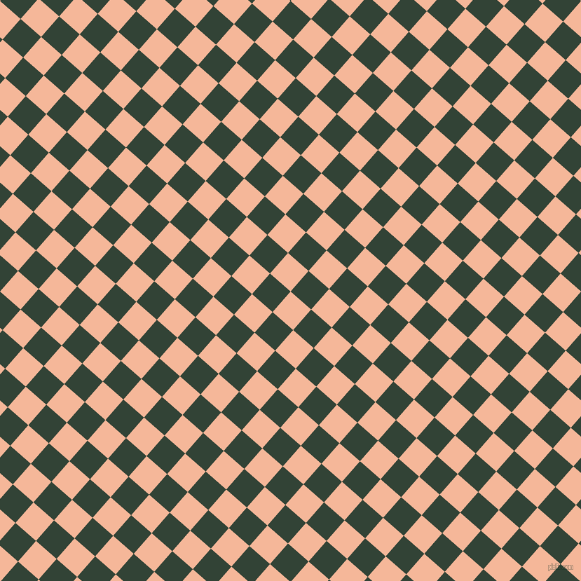 49/139 degree angle diagonal checkered chequered squares checker pattern checkers background, 39 pixel square size, , Mandys Pink and Timber Green checkers chequered checkered squares seamless tileable