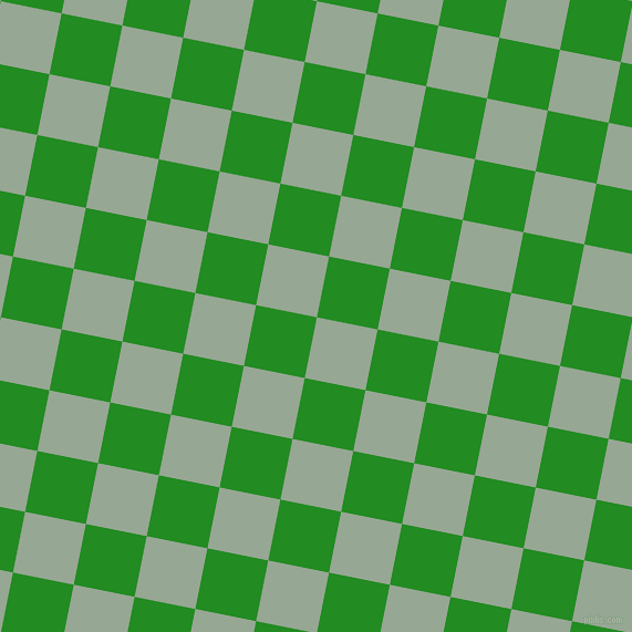 79/169 degree angle diagonal checkered chequered squares checker pattern checkers background, 56 pixel square size, , Mantle and Forest Green checkers chequered checkered squares seamless tileable
