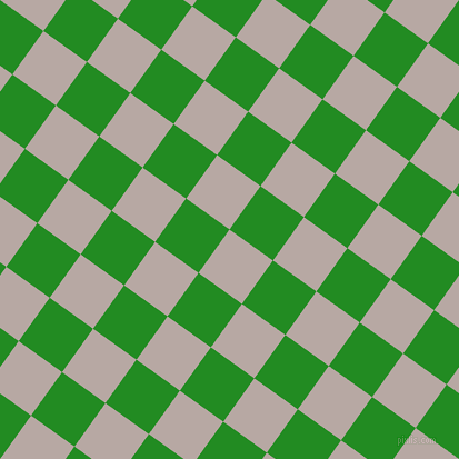 54/144 degree angle diagonal checkered chequered squares checker pattern checkers background, 48 pixel square size, Martini and Forest Green checkers chequered checkered squares seamless tileable