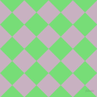 45/135 degree angle diagonal checkered chequered squares checker pattern checkers background, 72 pixel squares size, Maverick and Pastel Green checkers chequered checkered squares seamless tileable