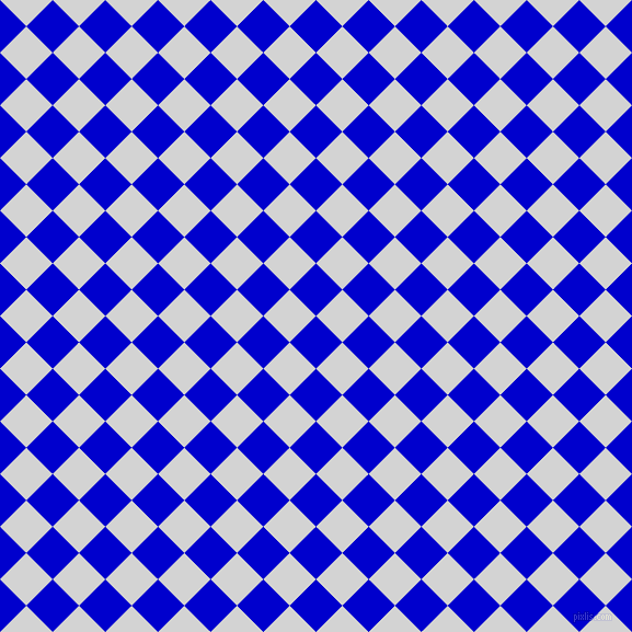 45/135 degree angle diagonal checkered chequered squares checker pattern checkers background, 34 pixel squares size, , Medium Blue and Light Grey checkers chequered checkered squares seamless tileable