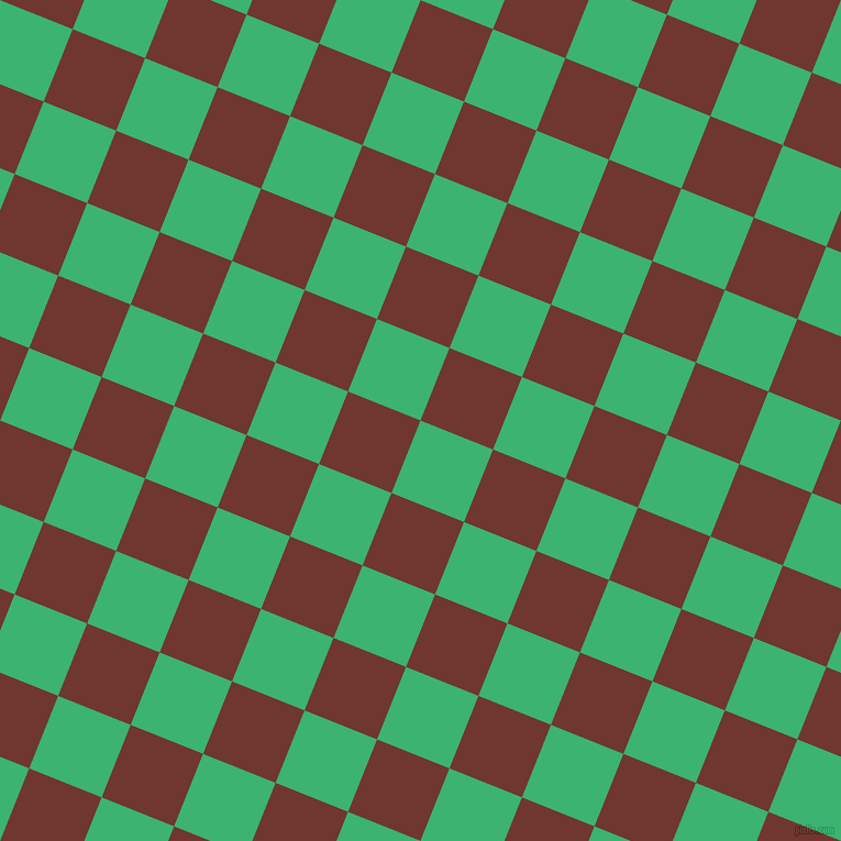 68/158 degree angle diagonal checkered chequered squares checker pattern checkers background, 71 pixel squares size, , Medium Sea Green and Mocha checkers chequered checkered squares seamless tileable