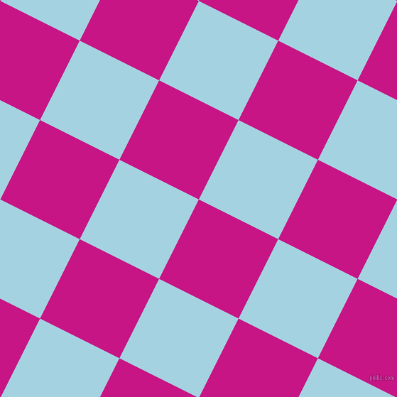 63/153 degree angle diagonal checkered chequered squares checker pattern checkers background, 125 pixel square size, , Medium Violet Red and French Pass checkers chequered checkered squares seamless tileable