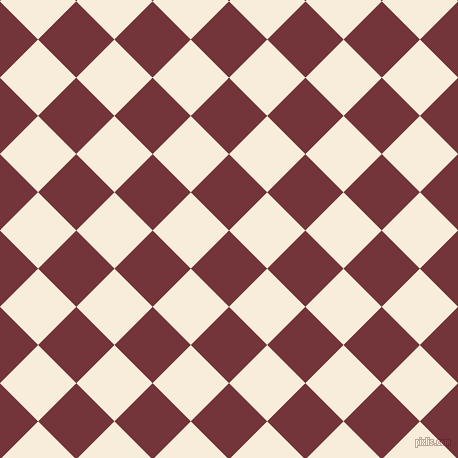 45/135 degree angle diagonal checkered chequered squares checker pattern checkers background, 54 pixel squares size, , Merlot and Island Spice checkers chequered checkered squares seamless tileable