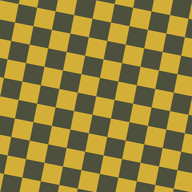 79/169 degree angle diagonal checkered chequered squares checker pattern checkers background, 66 pixel square size, , Metallic Gold and Kelp checkers chequered checkered squares seamless tileable