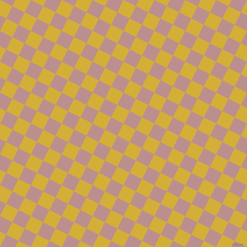 63/153 degree angle diagonal checkered chequered squares checker pattern checkers background, 45 pixel squares size, , Metallic Gold and Rosy Brown checkers chequered checkered squares seamless tileable