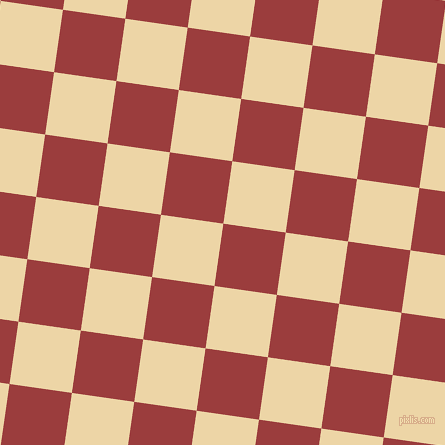 82/172 degree angle diagonal checkered chequered squares checker pattern checkers background, 63 pixel square size, , Mexican Red and Astra checkers chequered checkered squares seamless tileable