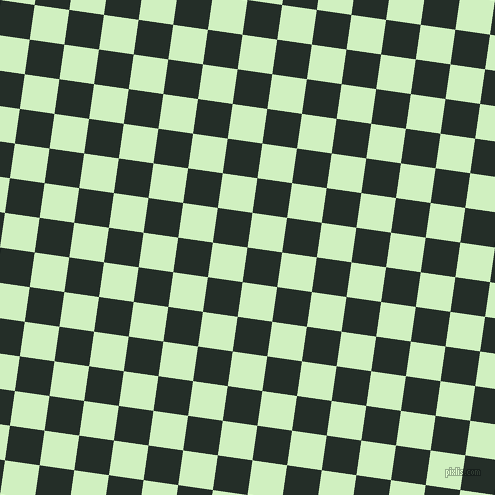82/172 degree angle diagonal checkered chequered squares checker pattern checkers background, 35 pixel squares size, Midnight Moss and Tea Green checkers chequered checkered squares seamless tileable
