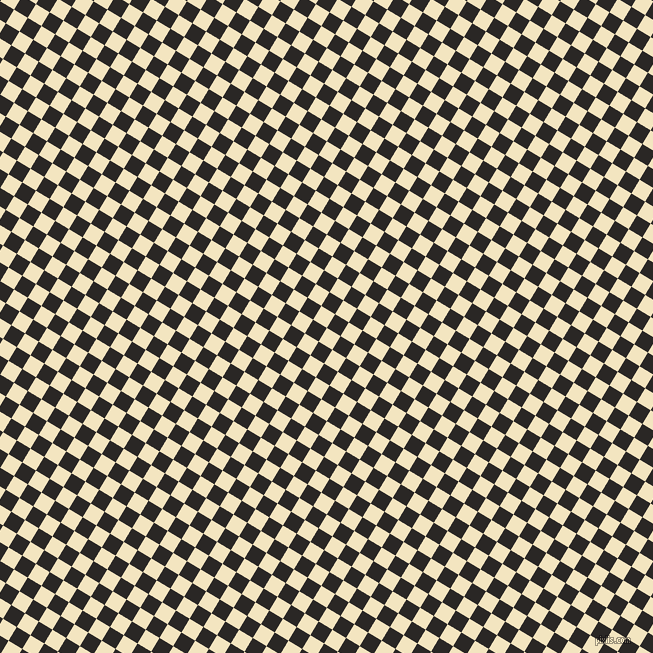 59/149 degree angle diagonal checkered chequered squares checker pattern checkers background, 16 pixel squares size, , Milk Punch and Bokara Grey checkers chequered checkered squares seamless tileable