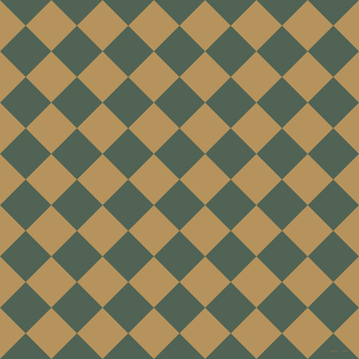 45/135 degree angle diagonal checkered chequered squares checker pattern checkers background, 72 pixel square size, , Mineral Green and Barley Corn checkers chequered checkered squares seamless tileable