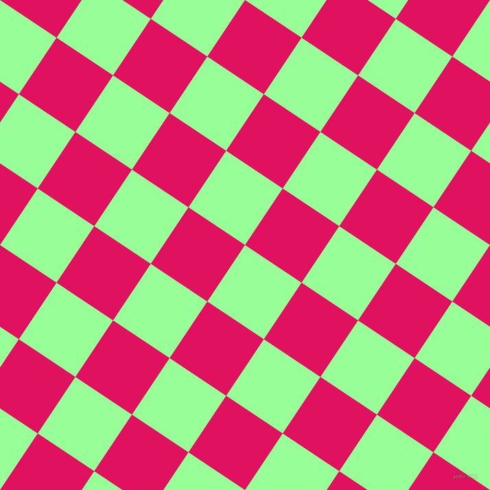56/146 degree angle diagonal checkered chequered squares checker pattern checkers background, 99 pixel square size, , Mint Green and Ruby checkers chequered checkered squares seamless tileable
